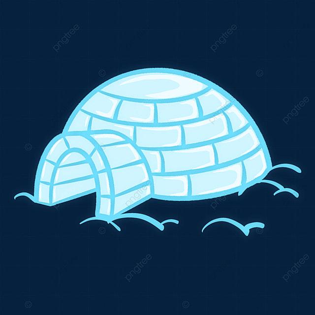 bright blue igloo clip art