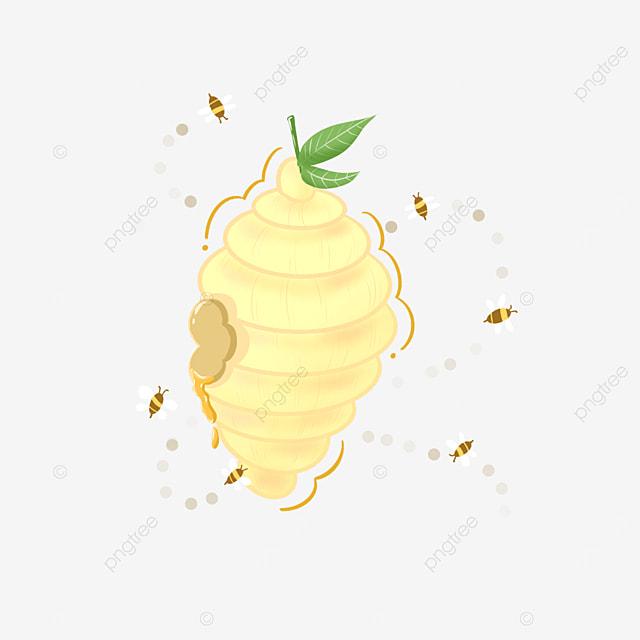 bright yellow beehive clip art