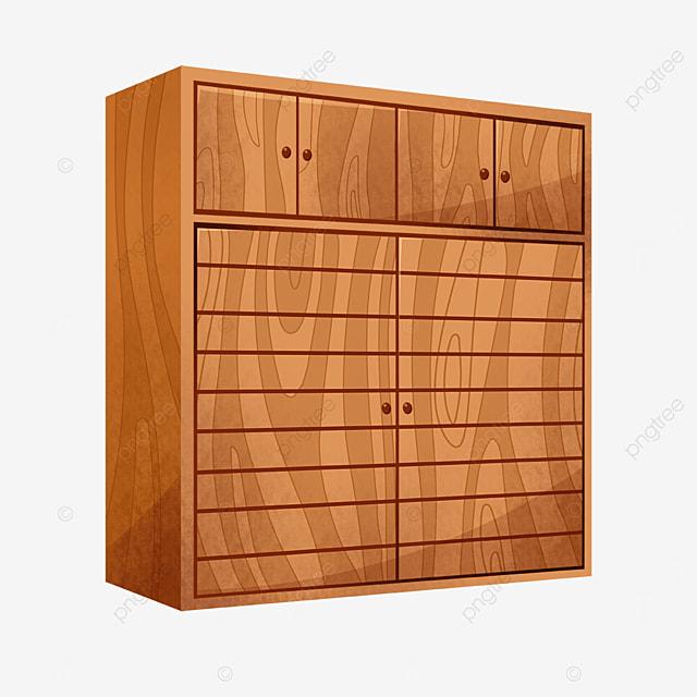 brown wood grain cabinet clipart