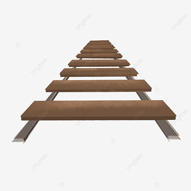 brown wooden railway transparent bottom clipart