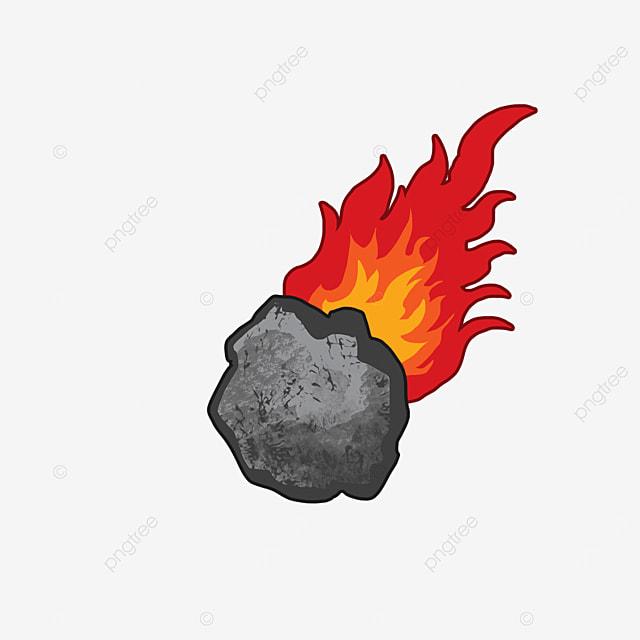 burning gray meteor clip art