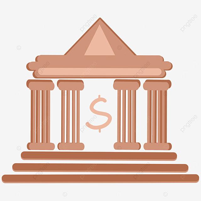 cartoon brown bank clipart