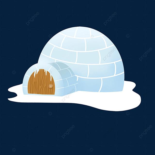 cartoon snow igloo clipart