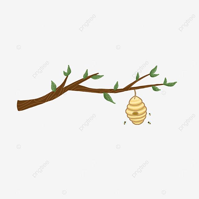 cartoon style beehive clipart