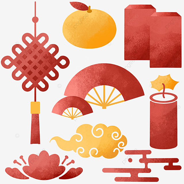 chinese new year watercolor decoration