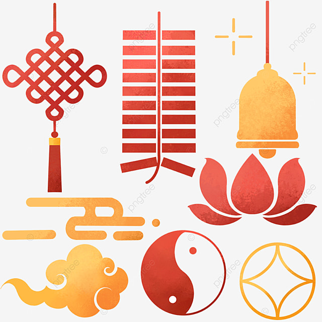 chinese style new year watercolor decoration