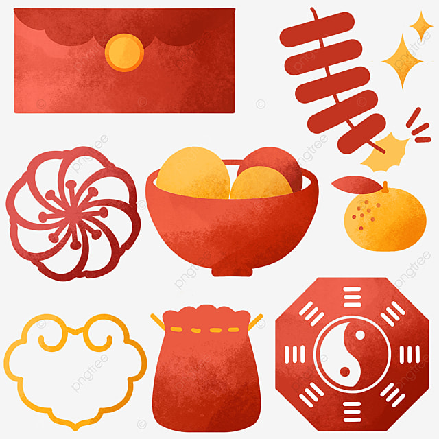 chinese style red objects