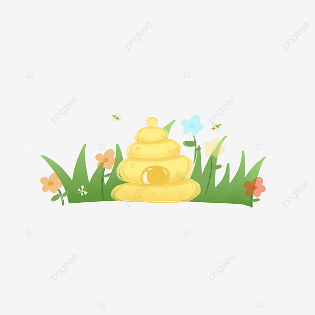 color beehive clipart