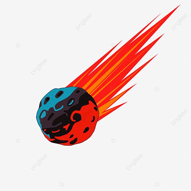 contrasting color meteor clip art