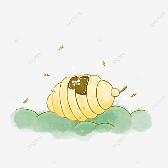 cute beehive clipart