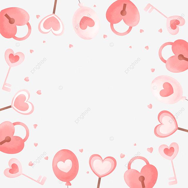 cute gentle pink white valentine border