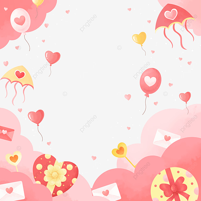 fashion cute pink yellow white valentine border