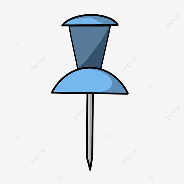 flat style pushpin clipart