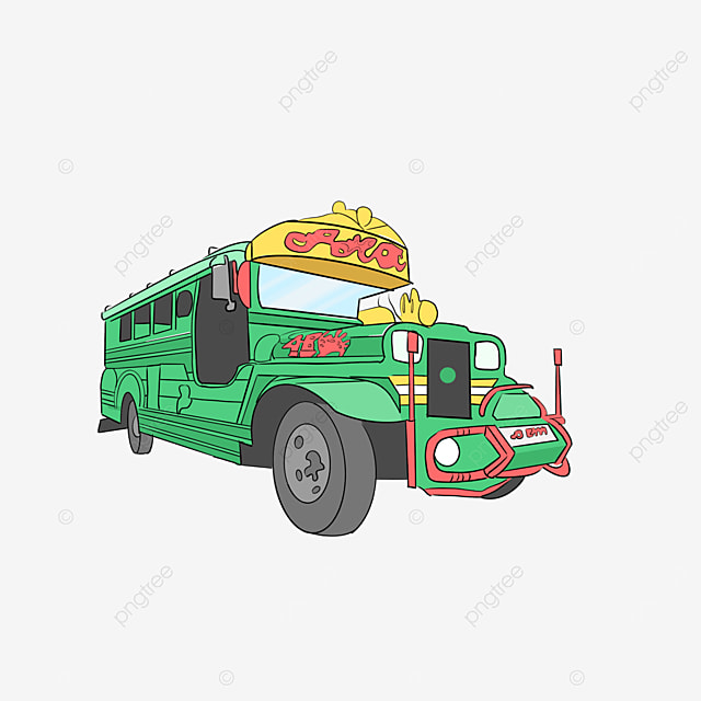 green jeepney clip art