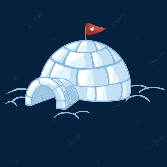 ice blue igloo clip art