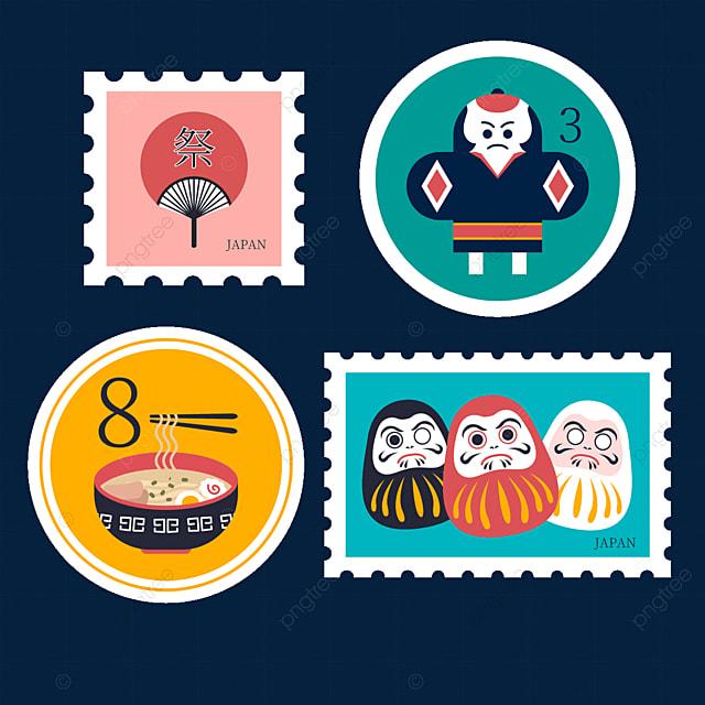 japan style round stamp