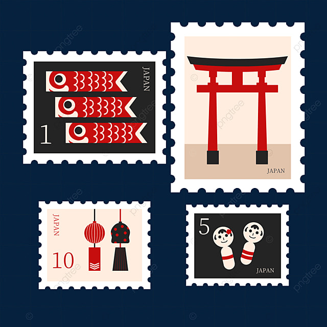 japan style stamp