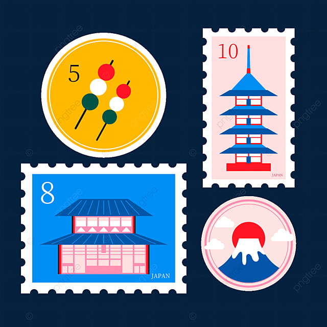 japanese style building stamp