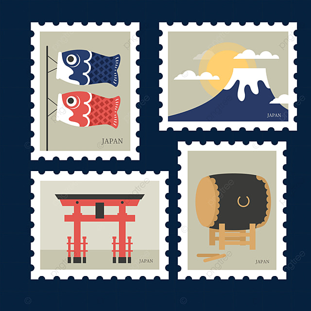 japanese style decorative stamp