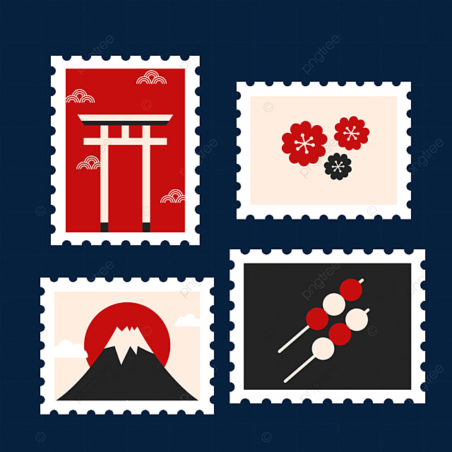 japanese style special stamps