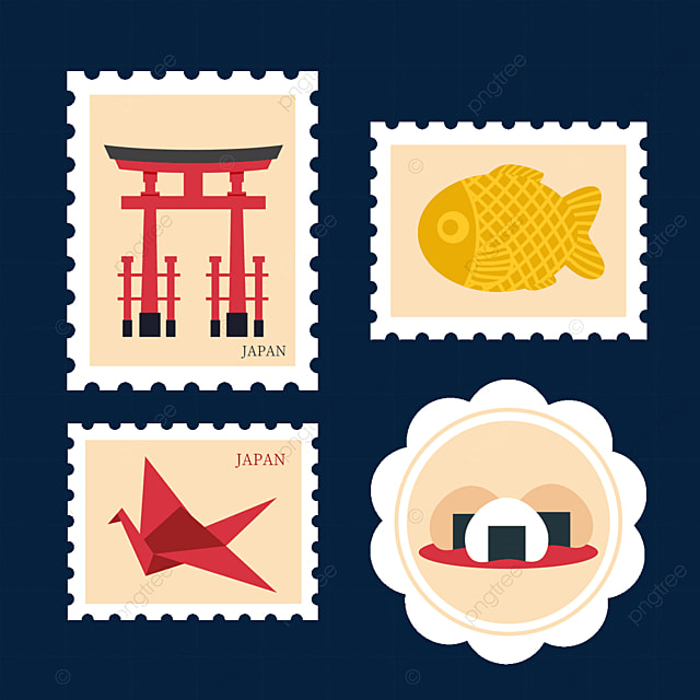 japanese style yellow stamp