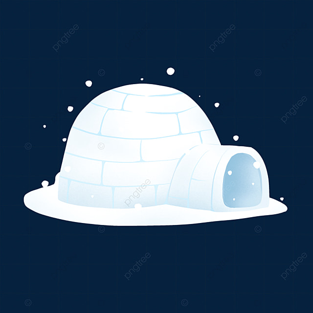 light blue igloo clip art