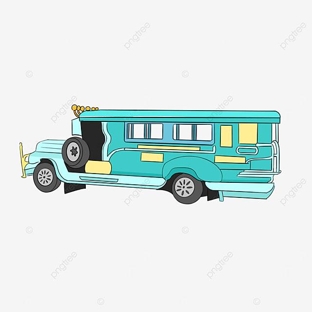 light blue jeepney clip art