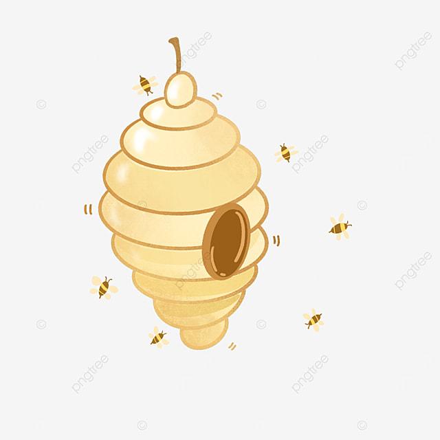 orange yellow wind beehive clip art
