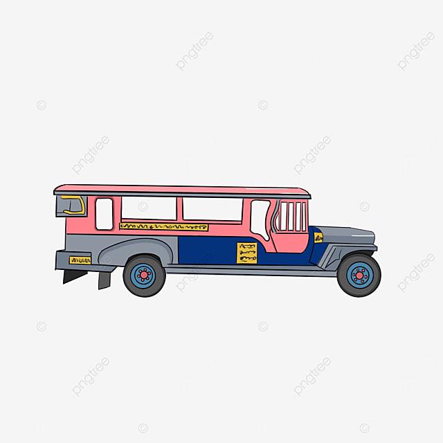 powder blue jeepney clip art