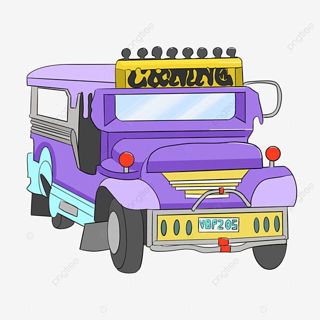 purple jeepney clip art