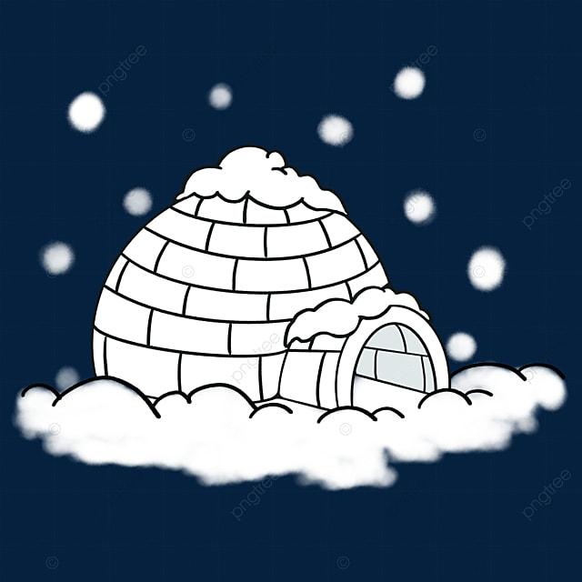 snow igloo clip art