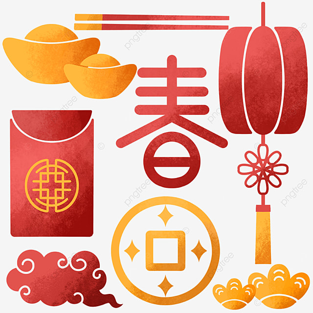 traditional chinese new year objects