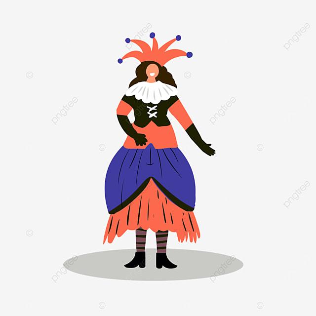 venice carnival dancing figures