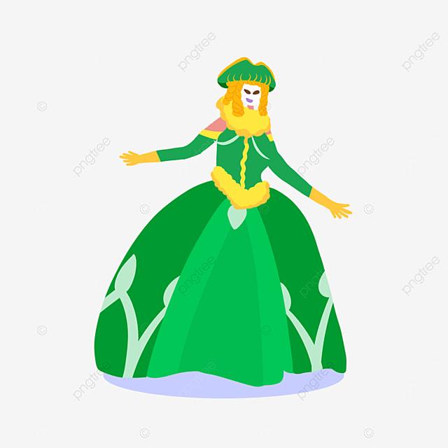 venice carnival green skirt