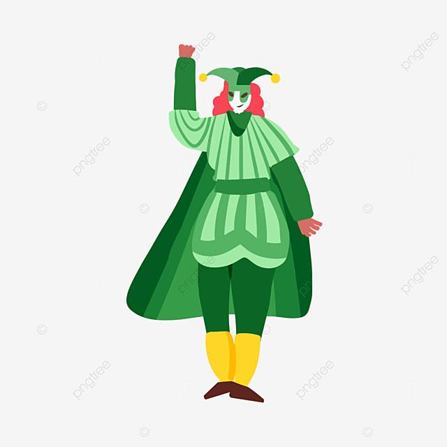 venice carnival green striped costume
