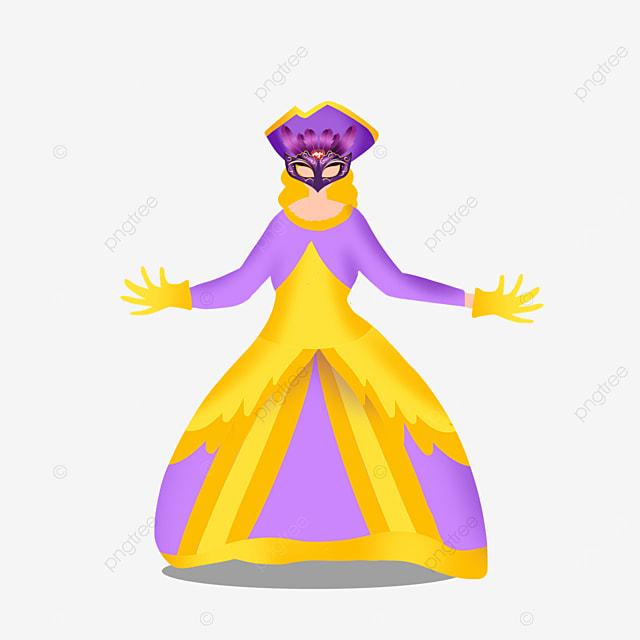 venice carnival purple dress