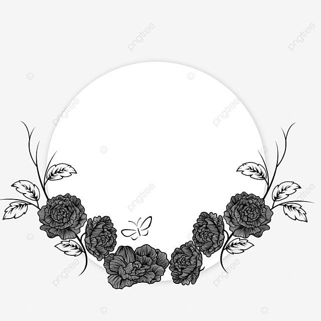 wedding lineart beautiful floral border