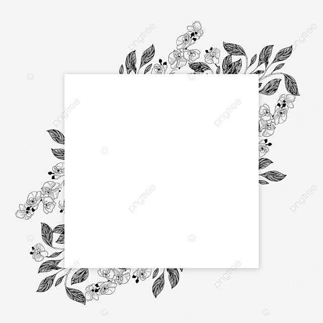wedding lineart fantasy flower border