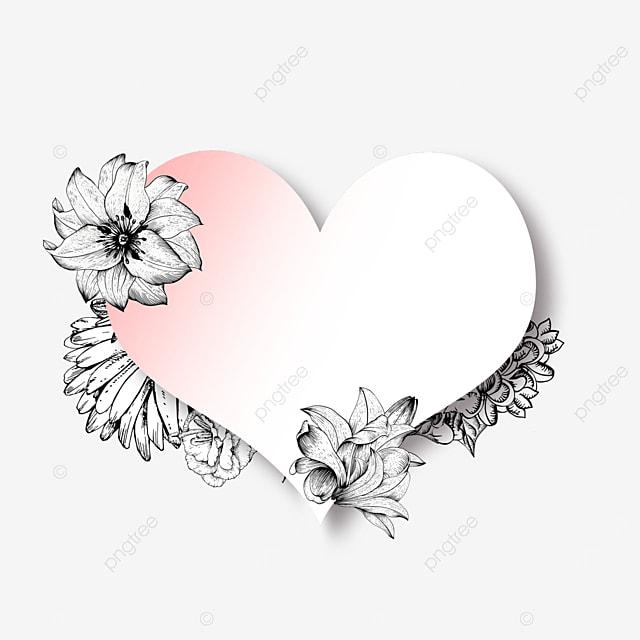 wedding lineart floral romantic border