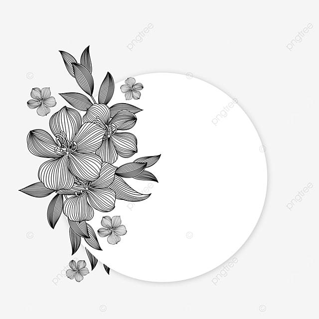 wedding lineart flower beautiful border