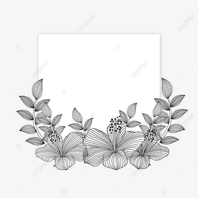 wedding lineart flower dreamy border