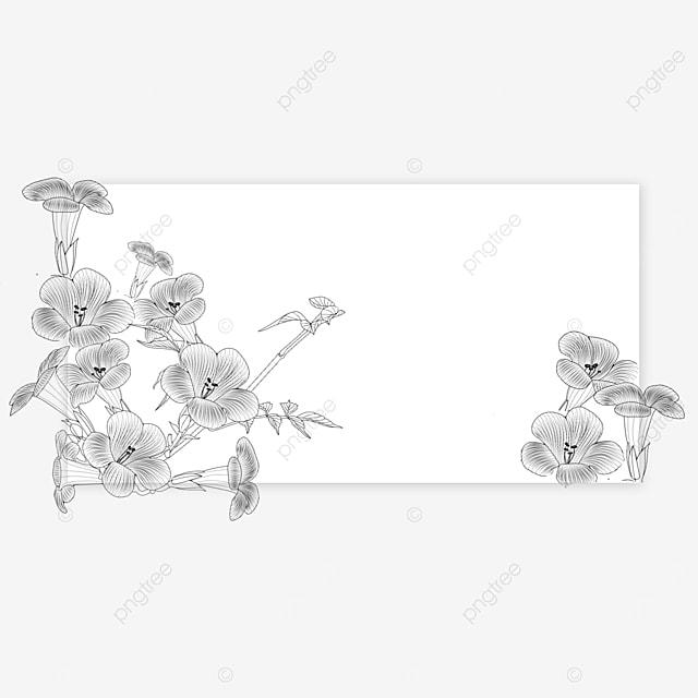 wedding lineart flower rectangle border