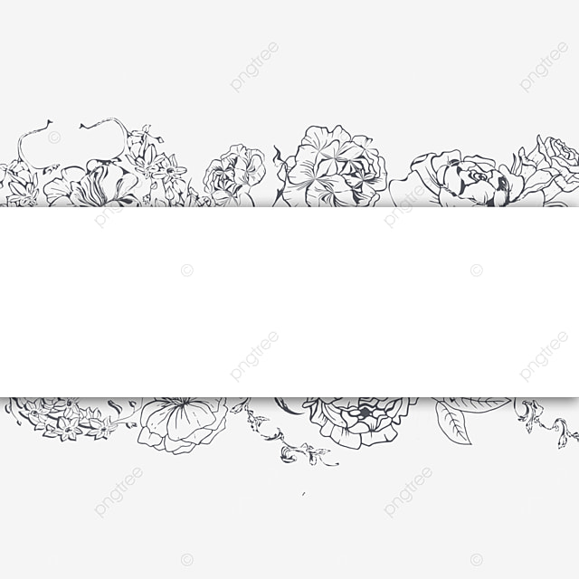 wedding lineart simple floral border