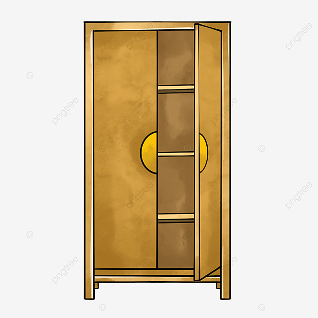 wooden cabinet clipart