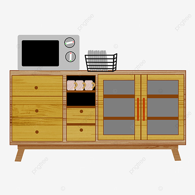 yellow cupboard clipart
