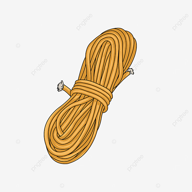 a bundle of yellow rope clipart