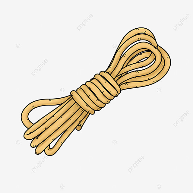 a bundle of yellow rope rope clipart