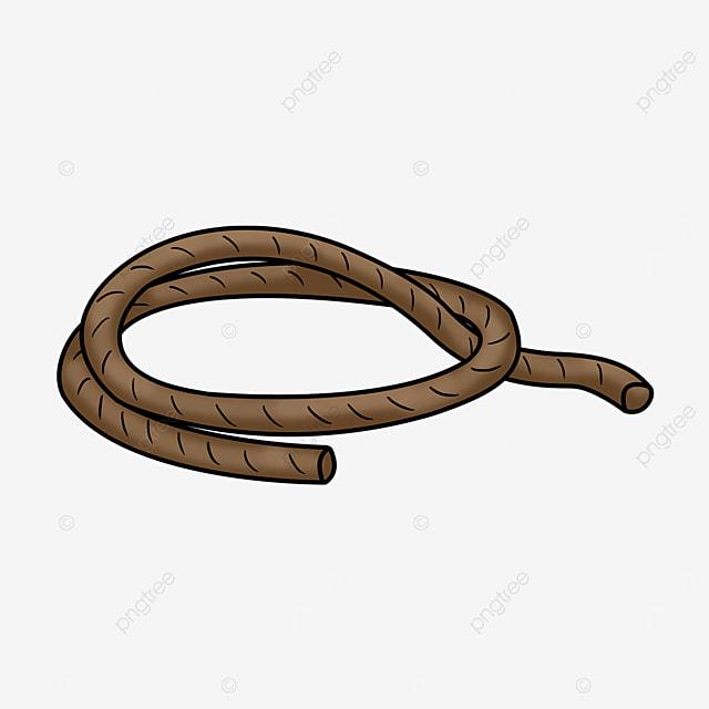 a dark brown rope clipart