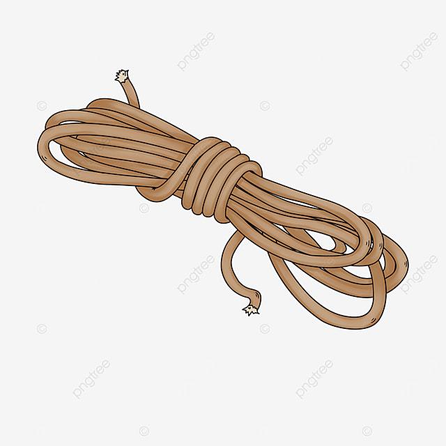 brown nylon rope clip art