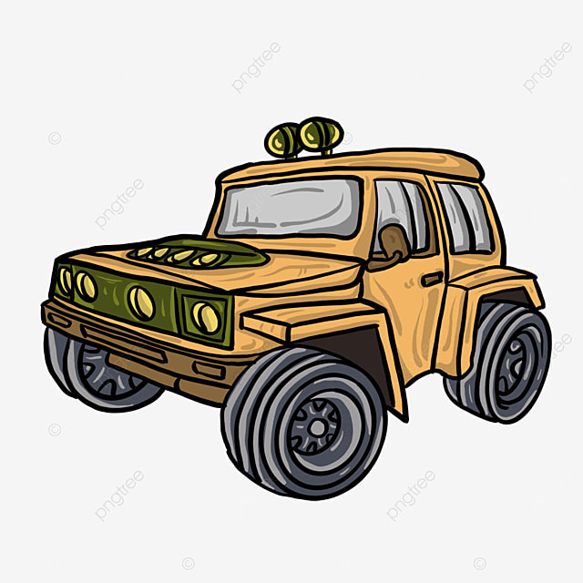Cartoon Jeep Clip Art Cartoon Yellow Jeep Png Transparent Clipart Image And Psd File For Free Download